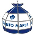Trademark Global® 16in. Stained Glass Tiffany Lamp, NHL Toronto Maple Leafs