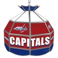 Trademark Global® 16in. Stained Glass Tiffany Lamp, NHL Washington Capitals