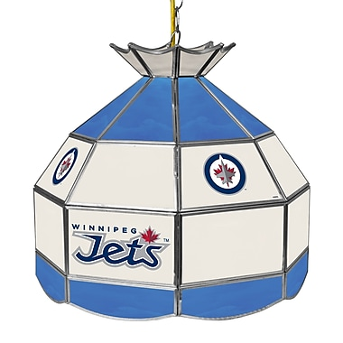 Trademark Global® 16in. Stained Glass Tiffany Lamp, NHL Winnipeg Jets