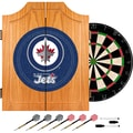 Trademark Global® Solid Pine Dart Cabinet Set, NHL Winnipeg Jets