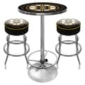 Trademark Global® NHL® 2 Bar Stools and Table Gameroom Combo, Boston Bruins
