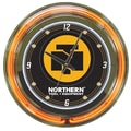 Trademark Global® Northern Tool and Equipment Neon Wall Clock