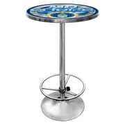 "Trademark Global® 28"" Solid Wood/Chrome Pub Table, Gray, US Air Force"
