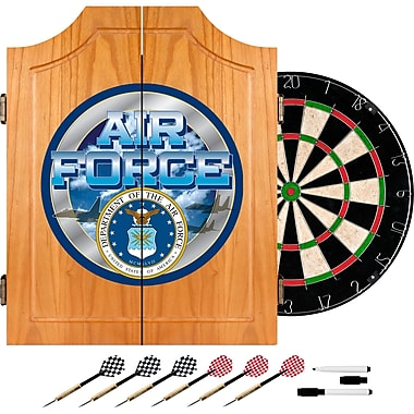 Trademark Global® Solid Pine Dart Cabinet Set, US Air Force