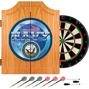 Trademark Global® Solid Pine Dart Cabinet Set, US Navy