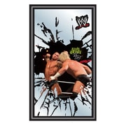 Trademark Global® 15 x 27 Black Wood Framed Mirror, WWE Randy Orton Framed Logo