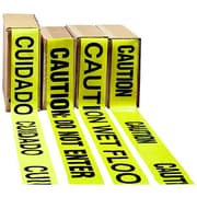 "Impact® 3"" x 1000' Polyethylene Caution Barrier Tape, Yellow With Black Lettering"