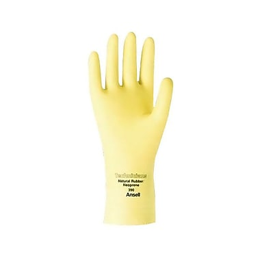 Ansell® Technicians 88-390 Rubber Latex/Neoprene Blend Gloves, Natural, Small