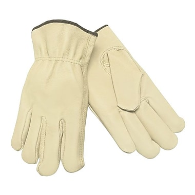 Impact® Unlined Grain-Leather Drivers Gloves, Cream, Large