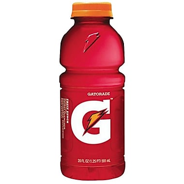 Gatorade® Sports Drink, Fruit Punch, 20 oz. Wide Mouth Bottle, 24/Pack