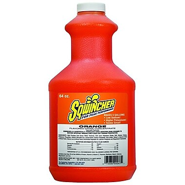 Sqwincher Liquid Concentrate Activity Drink, Orange, 64 oz. Bottle