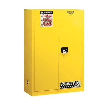 Justrite 45 gal Sure-Grip EX Standard Safety Cabinet, Yellow