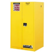 Justrite 60 gal Sure-Grip EX Standard Safety Cabinet, Yellow