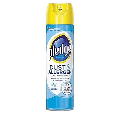 Pledge Dust Allergen Furniture Spray Fresh 9 7 Oz 12 Pack Staples