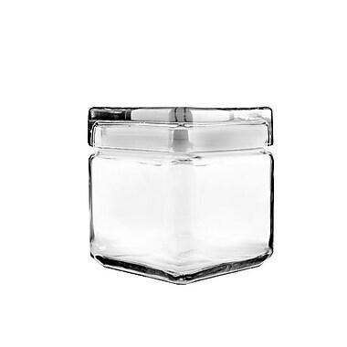 Anchor® Hocking 1 qt. Stackable Square Jar, 4/Pack