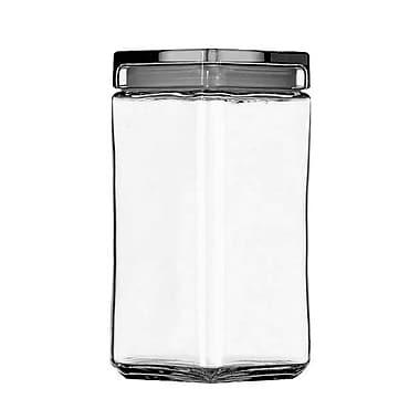 Anchor® Hocking 2 qt. Stackable Square Jar, 4/Pack