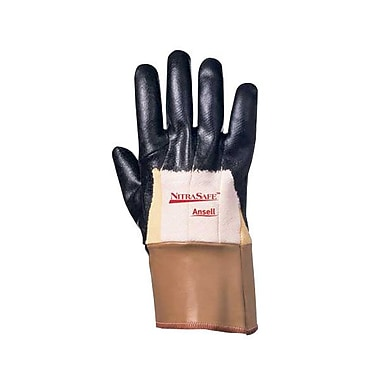 Ansell® Nitrasafe® DuPont™ Kevlar®/Jersey Lining Nitrile Coated Cut Resistant Gloves, Black, X-Large