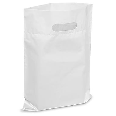 Die Cut Handle Lo-Density Poly Bag, 9