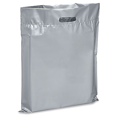 Die Cut Handle Lo-Density Poly Bag, 14