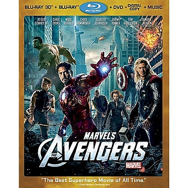 Marvel's The Avengers 3D (3D Blu-Ray + Blu-Ray + DVD + Digital Copy)