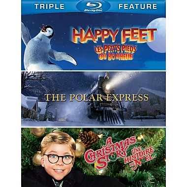 Happy Feet/A Christmas Story/The Polar Express (Blu-Ray)