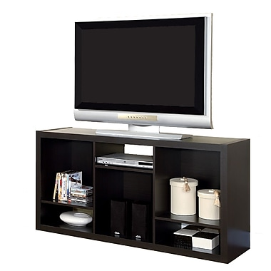 Monarch Hollow Core 56in. TV Console/ Bookcase, Cappuccino