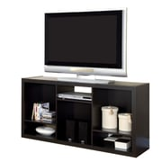 Monarch Hollow Core 56 TV Console/ Bookcase, Cappuccino