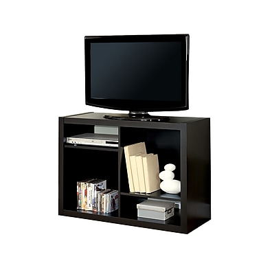 Monarch Hollow Core 38in. TV Console/ Bookcase, Cappuccino