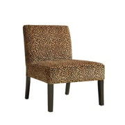 Monarch Leopard Fabric Accent Chair