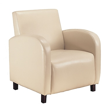 Monarch Specialties Inc. Leather Accent Chair, Beige (I 8052)