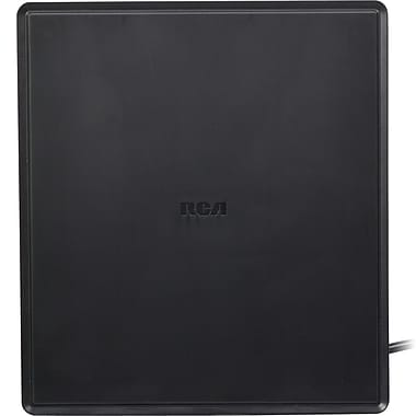 RCA® ANT1450BR Indoor Digital Flat Amplified Antenna, Black