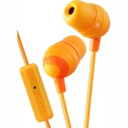 JVC Marshmallow HAFR37 Inner Ear Headphone With Mic, Orange