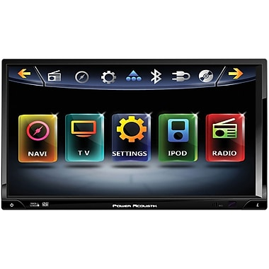 Power Acoustik® Inteq 2-DIN 7in. LCD Multimedia Touchscreen Car DVD Player, Black/Silver