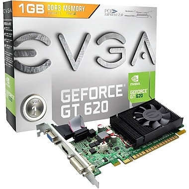 EVGA® GeForce GT 620 1GB PCI-Express Plug-In Graphic Card