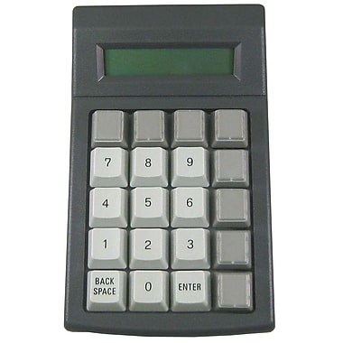 Genovation® 900-RJ 20-Key LCD MiniTerm Keypad, Gray