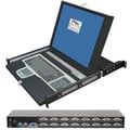 ConnectPro™ Master-IT StreamLine2 16 Port USB/PS/2 KVM Switch With 1U 17in. LCD Console Drawer
