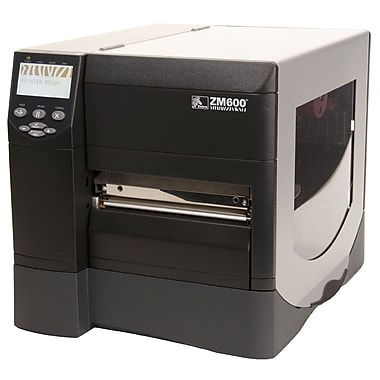 Zebra® ZM600 300 dpi 8 in/sec Thermal Transfer/Direct Thermal Auto Cutter Label Printer