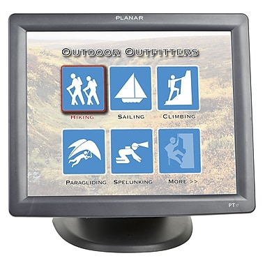 PLANAR® PT Series 17in. Touch Screen LCD Monitor, Black