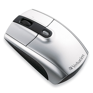 Verbatim® 96672 Wireless Notebook Laser Mouse, Silver