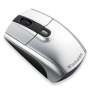 Verbatim® 96672 Wireless Notebook Laser Mouse, Silver