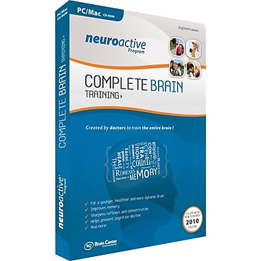 Brain Center 91737 NeuroActive Program Complete Brain Trainging Software For Windows Vista/W7