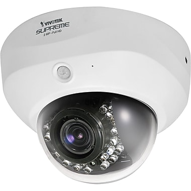 VIVOTEK FD8162 Supreme WDR Enhanced Dome Network Camera With Day/Night, 1/2.7in. Progressive CMOS