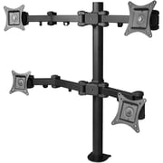 Siig® CE-MT0S12-S1 Articulating Quad Monitor Desk Mount With Extension For Up to 27 Monitor, Black