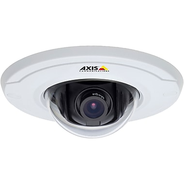 AXIS® M30 Dome Network Camera With No Midspan, 1/4in. RGB CMOS