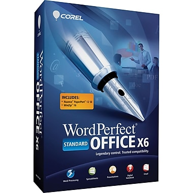 Corel™ Standard Edition WordPerfect Office v.X6 Software Suite For Windows
