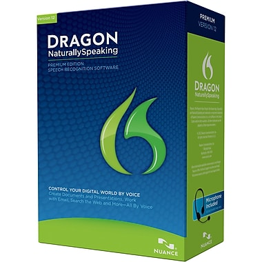 Nuance® State and Local Government Dragon NaturallySpeaking v.12.0 Premium Edition Software