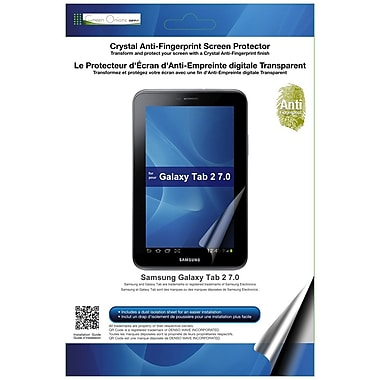 Green Onions Supply® RT-SPGT2G701AF Glossy Anti Fingerprint Screen Protector F/Galaxy Tab 2, Clear