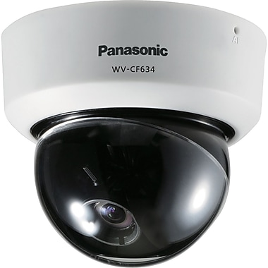 Panasonic® WV-CF634 Super Dynamic 6 Fixed Analog Dome Camera With Day/Night, 1/3in. CCD