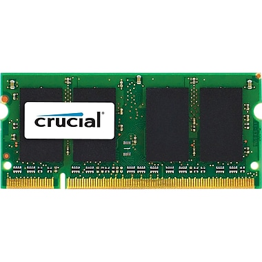Crucial® 4GB SoDIMM (204-Pin SDRAM) DDR3 1333 (PC3 10600) Memory Module For Desktop