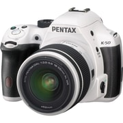 Pentax® K-50 16.3 Megapixel 18 - 55mm Lens Digital SLR Camera, White